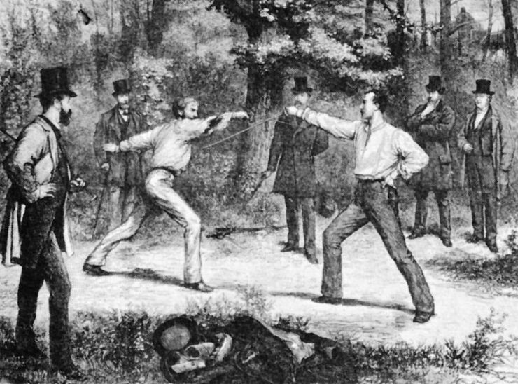The Code of Honor--A Duel In The Bois De Boulogne, Near Paris by G. Durand